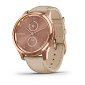 vívomove® Luxe - Rose Gold PVD 18K Stainless Steel, Light Sand Italian Leather