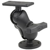 "1.5"" Ball Mount with 2.5"" Round Base, Short Arm & 1.5"" x 3"" Plate for the Humminbird Helix 5 ONLY"