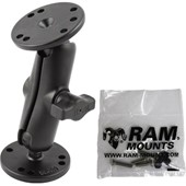 "1"" Ball Mount with 2/2.5"" Round Bases AMPs Hole Pattern & Mounting Hardware for the Garmin 7200"