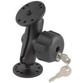 "1"" Ball Mount with 2/2.5"" Round Bases & Locking Knob"