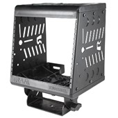 "Tough-Box™ Console 9"" Vertical Radio Rack with Total Faceplate Area of 7"" (ie. Combinations of Face"