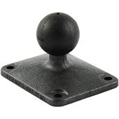 "1"" Ball Base and Composite Rectangular Plate with 1.5"" x 2"" 4-Hole Pattern"